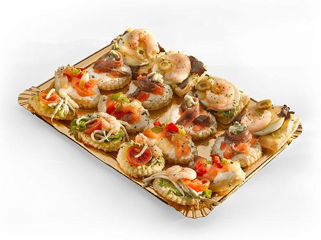 Canapés de Croissant con queso