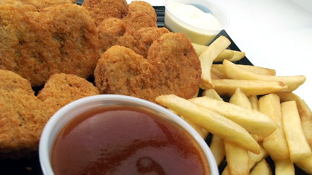 Nuggets de pescado en las recetas divertidas para niños