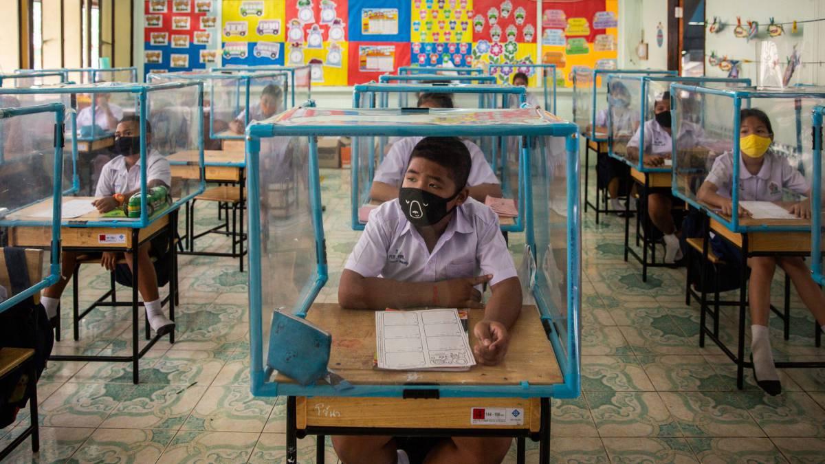 Los grupos burbuja en colegios-